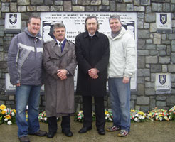 Arthur Morgan TD pictured with Newry and Armagh MLAs Conor Murphy, Mickey Brady and Cathal Boylan at the recent Keith Rodgers commemoration