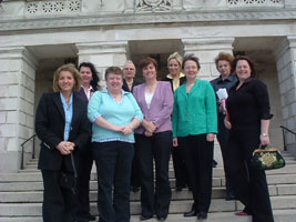 Sinn Féin women MLAs with Bairbre de Brún MEP outside Stormont this week