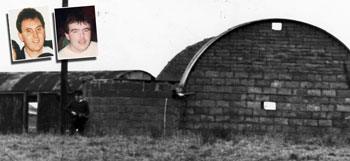 The scene of the shooting of IRA Volunteers Dessie Grew and Martin McCaughley