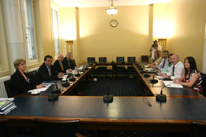 The Sinn Féin delegation that met the Policing Board at Stormont Buildings