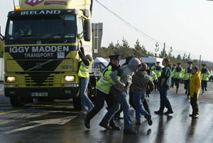During protests over the weekend, seven activists were arrested including people who had travelled from Poland and the United States, as well as Dublin and Mayo