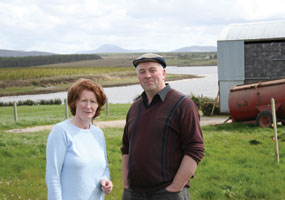 Willie Corduff, winner of the 2007 Goldman Environmental Prize, with his wife Mary at their farmhouse in Rossport, Co Mayo