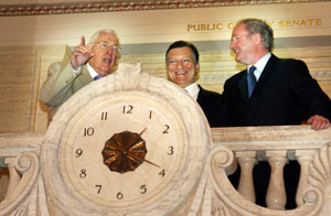Ian Paisley and Martin McGuinness in Stormont with European Commission President Jose Manuel Barroso