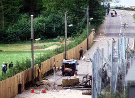 The scene at Loughgall where eight Volunteers were killed