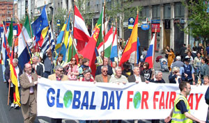 'Global Day for Fair Pay' was the theme for the Dublin rally