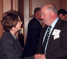 Willie Corduf with Nancy Pelosi