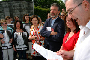 Commemoration at the Garden of Remembrance in Dublin