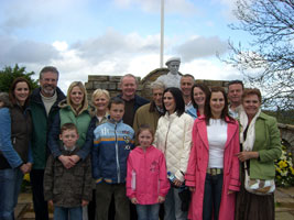 Gerry Adams, Martin McGuinness and Michelle Gildernew with relatives of the 8 Loughgall Martyrs