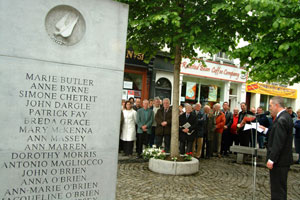 Commemoration for the 33rd anniversary of the Dublin/Monaghan Bombings