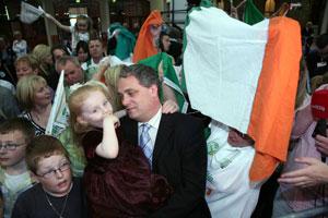 Aengus Ó Snodalgh, at the RDS Count Centre, Dublin