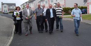Sinn Féin's Pádraig Mac Lochlainn canvassing in Letterkenny