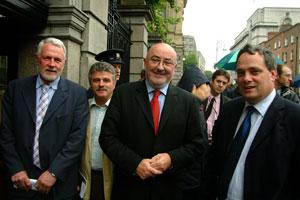 Sinn Féin TDs Martin Ferris, Arthur Morgan,Caoimhghín Ó Caoláin and  Aengus Ó Snodaigh