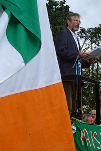 Gerry Adams delivers the main address
