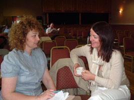 Caral Ní Chuilin and Bronwyn McGahon