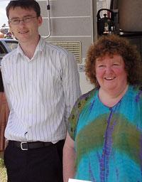 David Cullinane and Pauline Humphreys