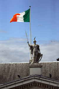The Irish Tricolour's beginnings are in 1848 when Thomas Francis Meagher presented the flag to the citizens of Dublin