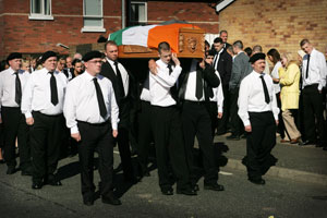 The funeral of Volunteer Patrick Markey