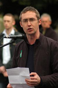 Eoin Ó Broin addressing a 2007 Easter commemoration