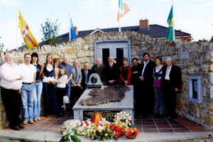 Members of Kieran Doherty's family from Andersonstown, including his brother Terence and his sister Mairéad, joined Cavan Monaghan Sinn Féin TD Caoimhghín Ó Caoláin and other party members from across West Cavan followin