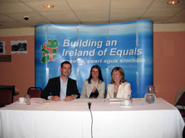 Pearse Doherty, Marie Therese Gallagher and  Gráinne Mhic Géidigh