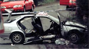 The scene of Rosemary Nelson's murder