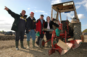 Michelle Gildernew with the judges of the Ploughing Championships