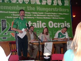 Gerry Adams speaking at Sinn Féin Slógadh 2006