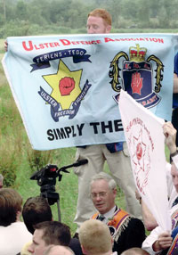 UDA banner at Drumcree