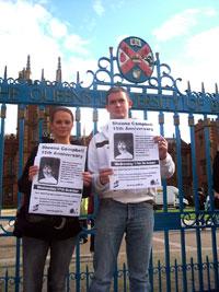 The vigil at Queens University front gates