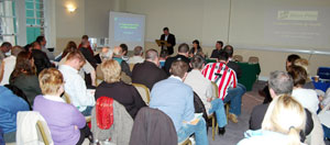 Arthur Morgan TD addressing delegates at the Leinster Cúige conference in Dublin last weekend