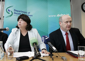 Health Minister Mary Harney and Health Service Executive CEO Brendan Drumm