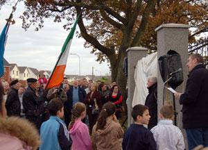 John O'Dowd addressing the commemoration