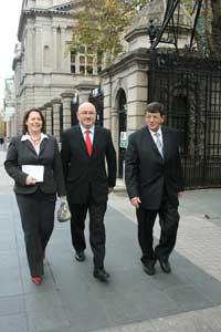 Michelle Gildernew, Caoimhghín Ó Caoláin and Pat Doherty