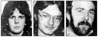 IRA Volunteers Eugene Toman, Seán Burns and Gervaise McKerr