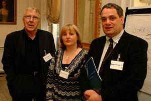 Sinn Féin Councillors Christy Burke and Críona Ní Dhalaigh and TD Aengus Ó Snodaigh at the Joint Policing Committees consultation meeting