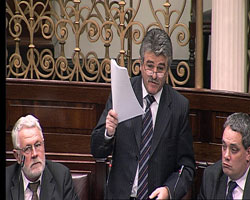 Arthur Morgan speaking in The Dáil on Budget Day