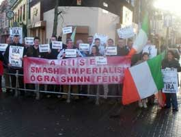 Ógra Shinn Féin picket in Omagh in support of republican prisoners