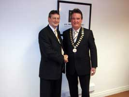 The CEO of Co. Monaghan VEC, Martin O'Brien, with the new chairperson Sinn Féin's Pat Treanor
