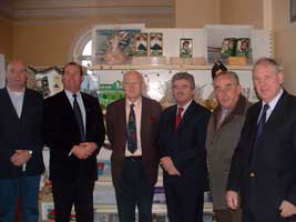 Sinn Féin Councillor Kieran McCarthy, Michael Martin, Chamber of Commerce President Joe Mac Coitir, Arthur Morgan TD, Martin Hallinan and John Sweeney