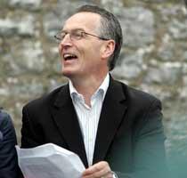 Cool dudes – Gerry Adams and Gerry Kelly canvass for Caoimhghín Ó Caoláin during the 1997 general election
