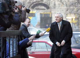 Bertie Ahern arriving at the Mahon Tribunal
