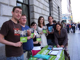 Collecting signatures for disability rights outside the GPO, Dublin