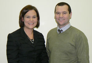 Mary Lou McDonald and Paul Donnelly