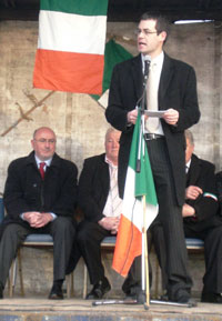 Pearse Doherty speaking at the commemoration