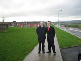 Martin McGuinness with Maurice Quinlivan in Moyross in January 2007