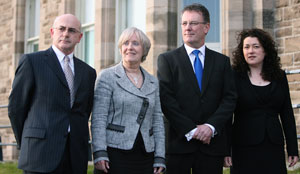 The four Victims Commissioners, Brendan McAllister, Bertha McDougall, Mike Nesbitt and Patricia McBride