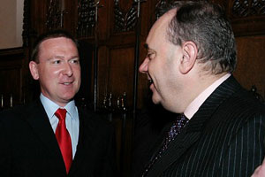 Jim Slaven with  Scottish National Party leader, Alex Salmond