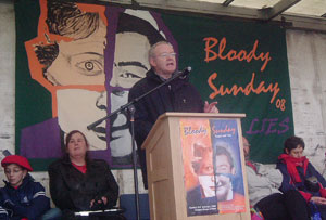 Martin McGuinness addresses the commemoration