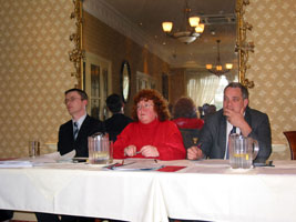 Cllr David Cullinane, Pauline Humphries and Aengus Ó Snodaigh TD at the Waterford meeting on Policing and Community Safety organised by Sinn Féin