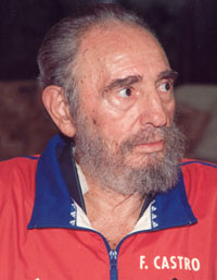 Fidel Castro who has stepped down as President of Cuba